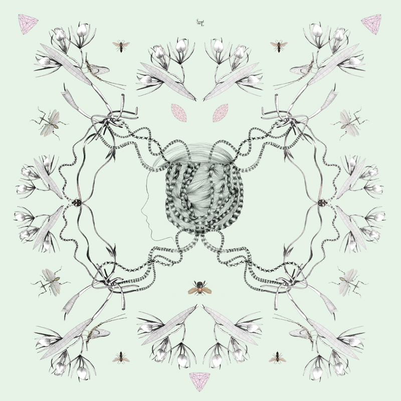 2-coco-illustratrice-mode-forgetmenot-scarf-foulard-silk-girl-insect