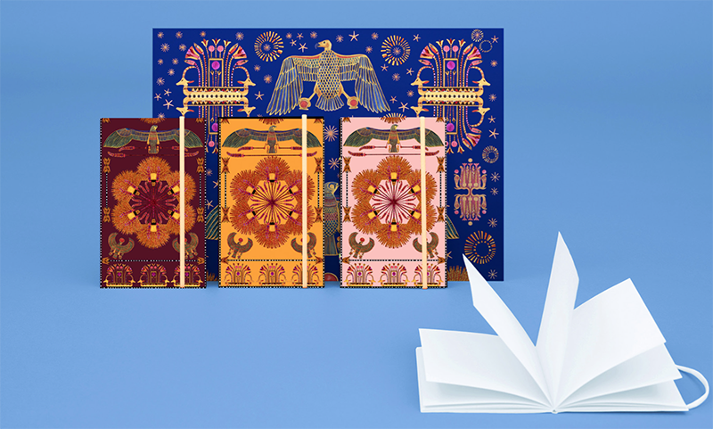 forget-me-not-stationnery-egypt-paper-carnet-coco-illustrator