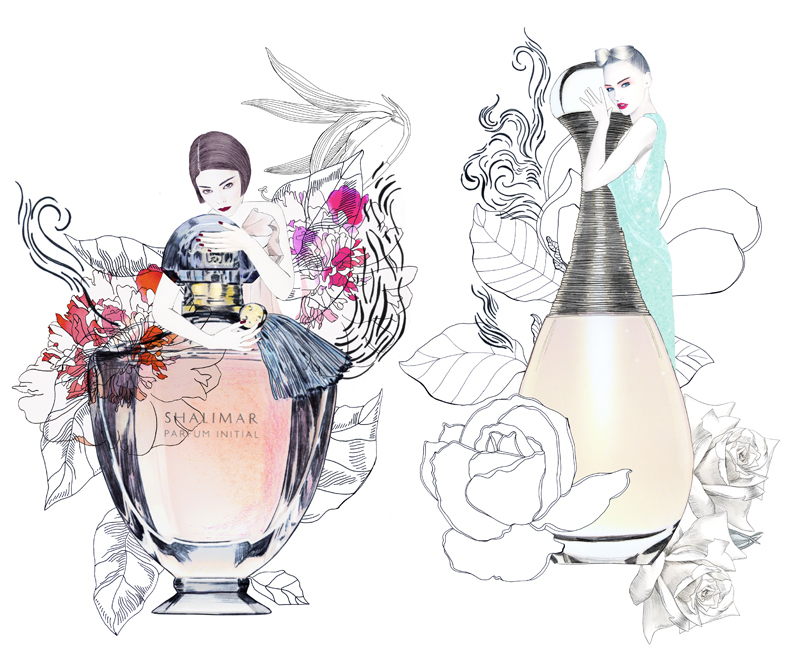 lane-crawford-illustration-coco-art-guerlain-chalimar-dior